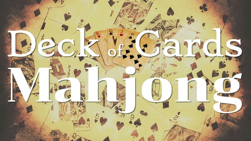 Image Deck of Cards Mahjong