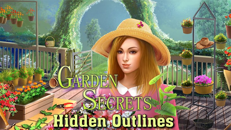 Image Garden Secrets Hidden Objects by Outline